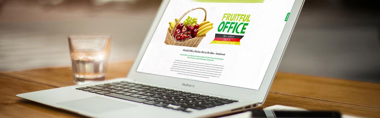 Obst am Arbeitsplatz Internetseite