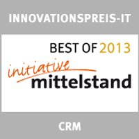 "Innovationspreis-IT Prädikat ""best of"" 2013 ""CRM"""