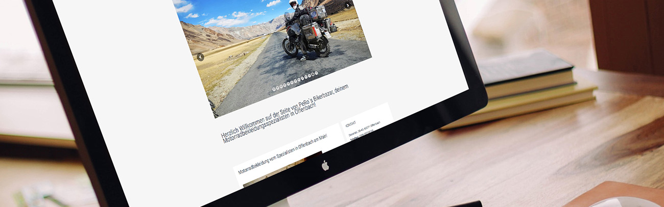 Peros Bikerbazar Internetseite