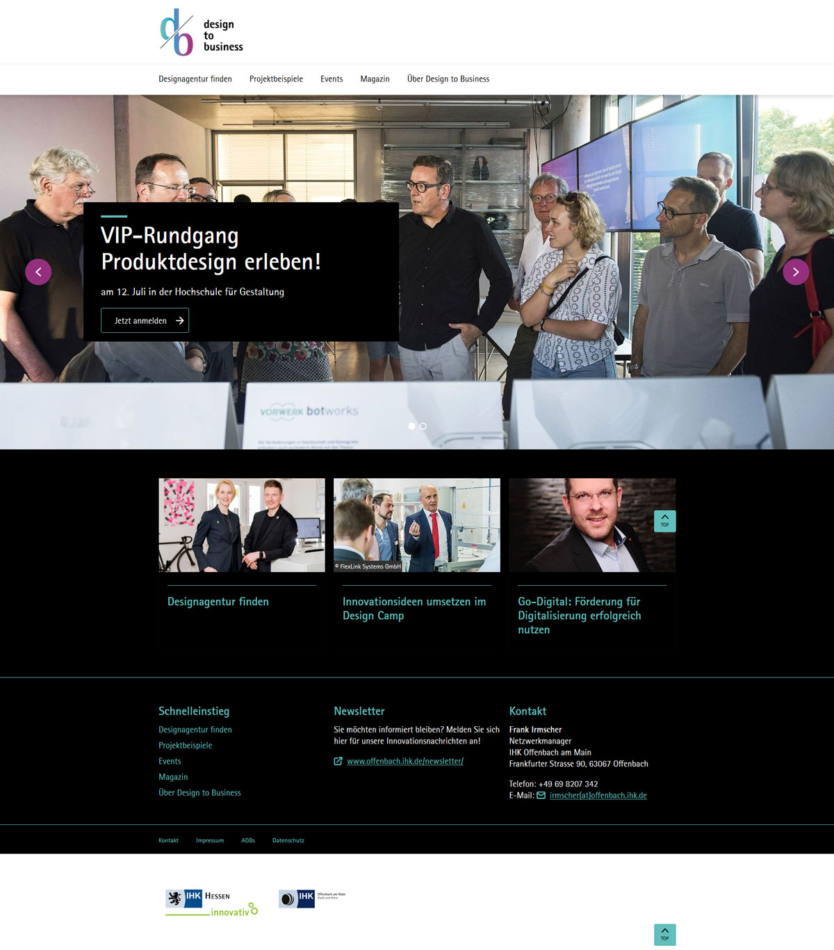 Design to Business webFLEX media Beitrag