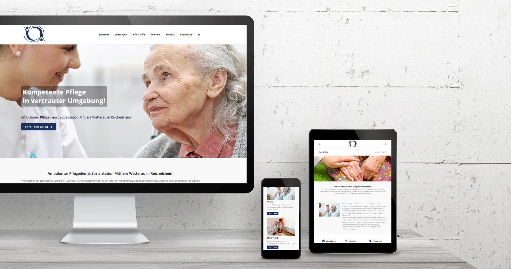 Sozialstation Mittlere Wetterau Internetseite