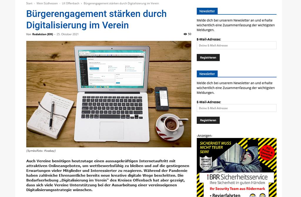 Bürgerengagement stärken durch Digitalisierung im Verein